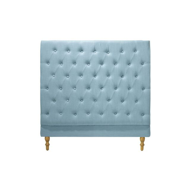 Temple & Webster Teal Charlotte Chesterfield Bedhead