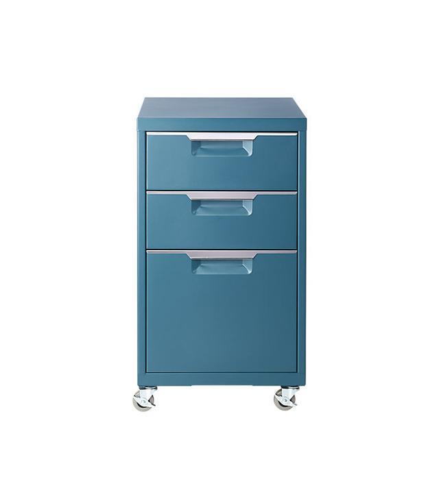 CB2 TPS Teal 3-Drawer Filing Cabinet