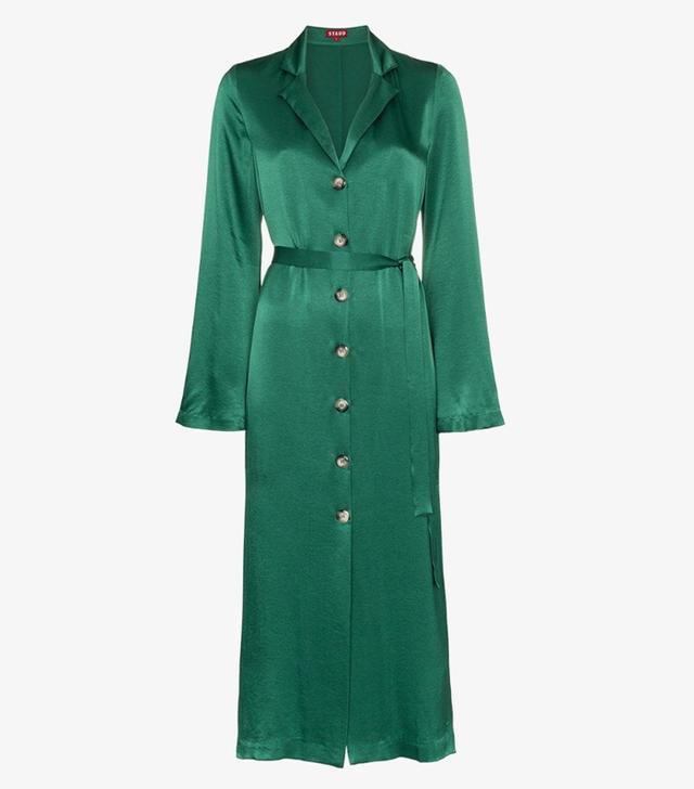 Best mid-priced labels: Staud green dress