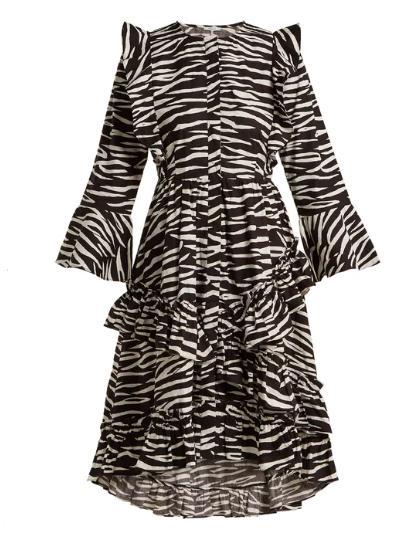 Best mid-priced brands: Ganni zebra dress