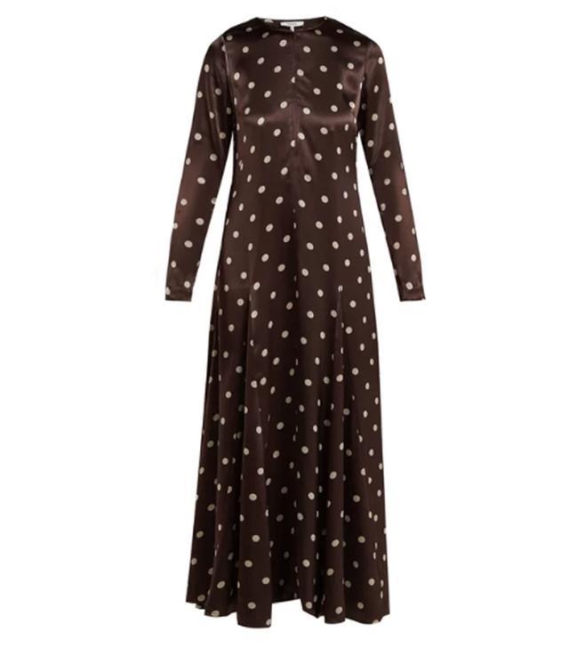 Best mid-priced brands: Ganni polka dot maxi dress