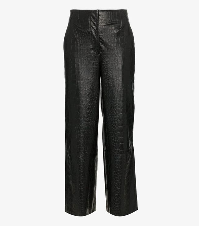 Best mid-priced brands: Nanushka leather trousers