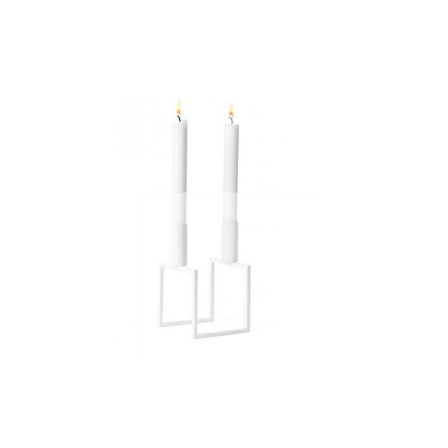 By Lassen Line Candle Holder White