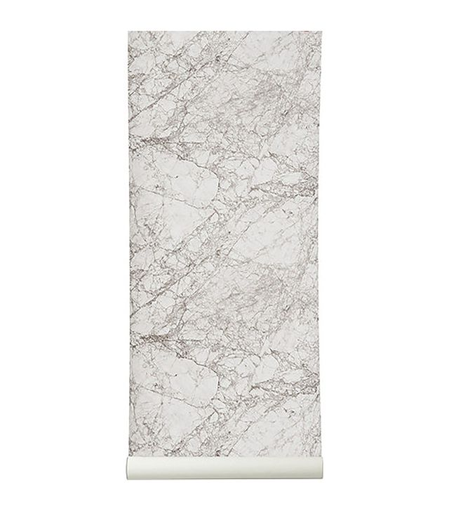 Murals Wallpaper Textured White Marble Wall Mural