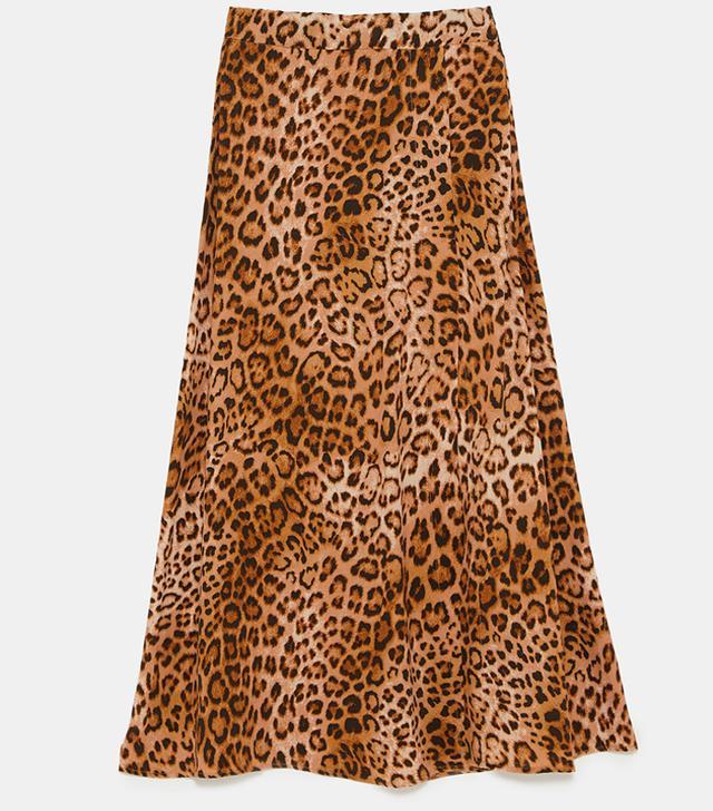Zara Leopard Print Skirt