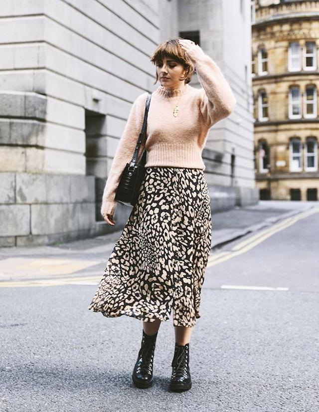London fashion trends: leopard skirt