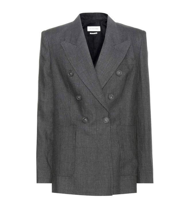 Jeanne Damas Style: Isabel Marant Étoile Janey Plaid Linen Jacket