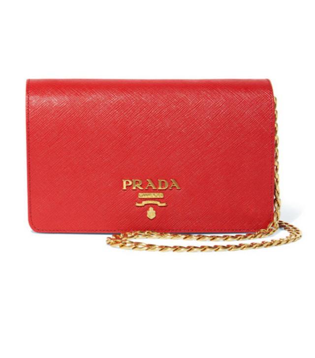 Jeanne Damas Style: Prada Textured-Leather Shoulder Bag