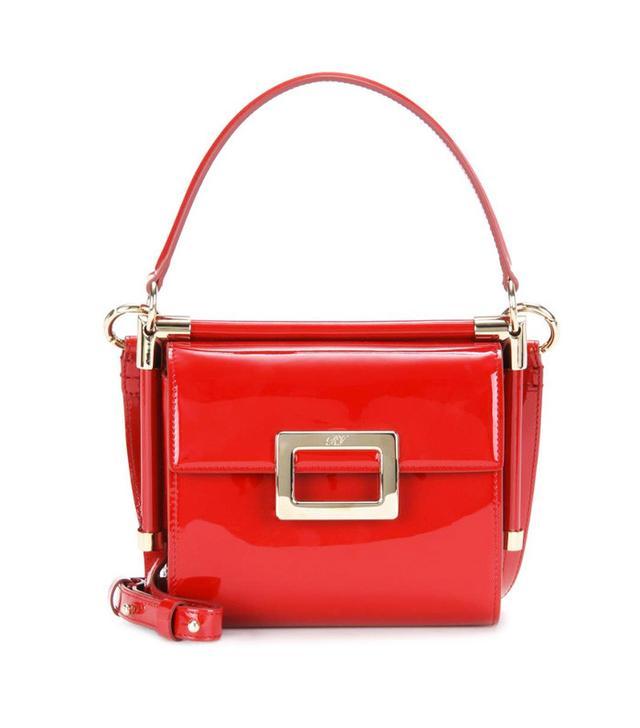 Jeanne Damas Style: Roger Vivier Miss Viv' Carré Patent Leather Shoulder Bag