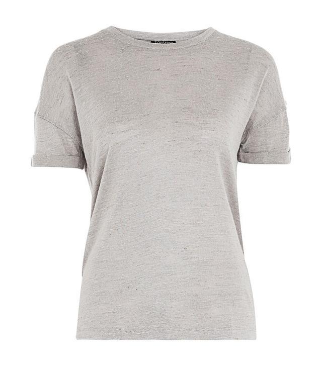 Jeanne Damas Style: Topshop Linen T-Shirt
