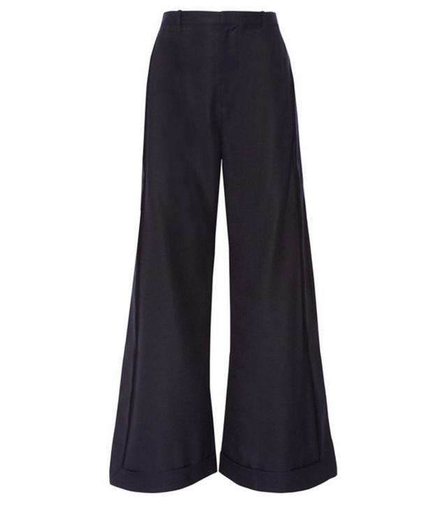 Jeanne Damas Style: Jacquemus Wool Wide-Leg Pants