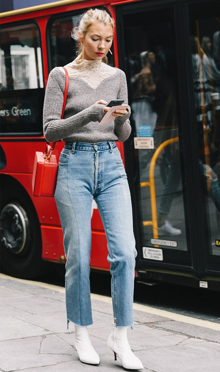 How to Wear Mom Jeans\u2014The Tops, Shoes and Boots That Work