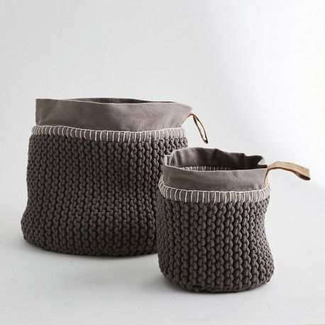Utility Rope Basket - Charcoal