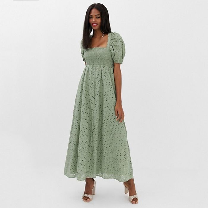 d422a2b6830 Pinterest · Shop · ASOS Shirred Bustier Maxi Dress ...