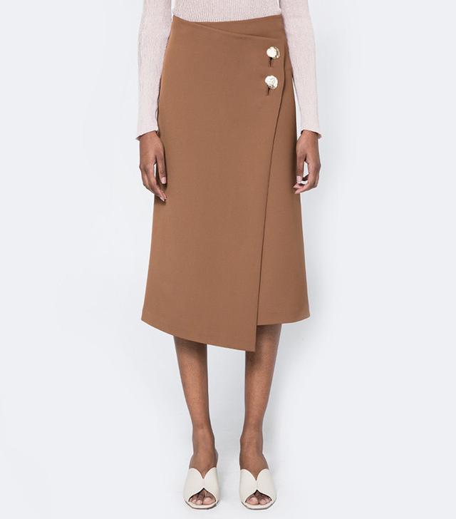 Achro Button Detail Wrap Skirt