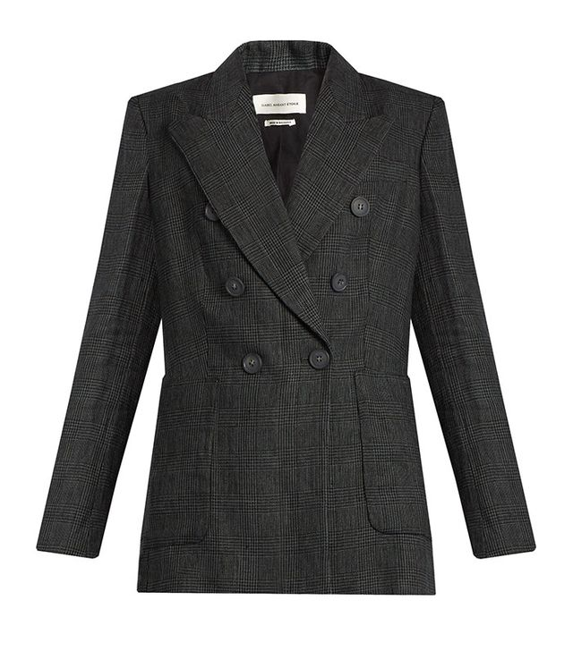 Isabel Marant Étoile Janey Prince of Wales-Checked Linen Blazer