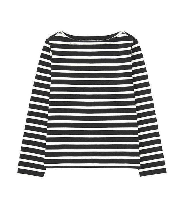 Uniqlo Striped Boat Neck Long Sleeve T-Shirt