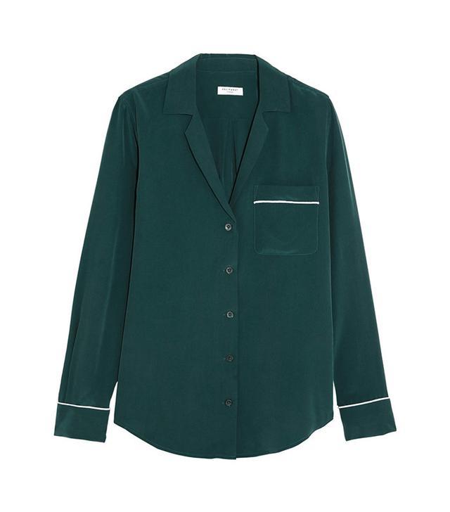 Equipment Keira Washed-Silk Pajama Shirt