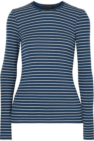 ATM Anthony Thomas Melillo Striped ribbed stretch-Micro Modal top