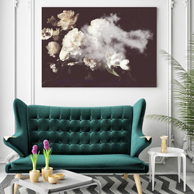 Hoxton Arthouse Flower Cloud Canvas Wall Art