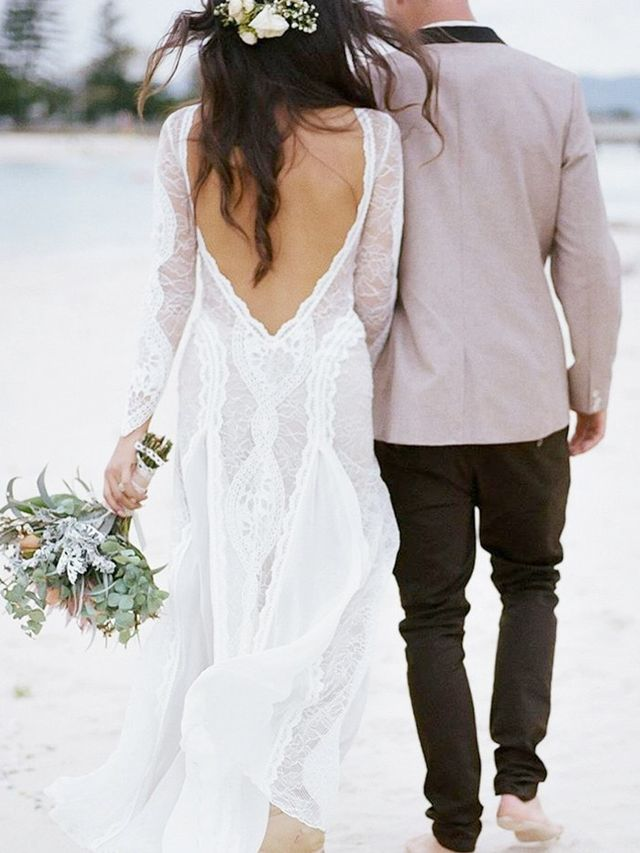 16 Stunning Wedding Dresses for a Casual Beach Wedding | Who What Wear