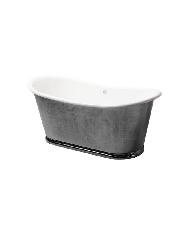 Waterworks Candide Freestanding Oval Cast Iron Bathtub
