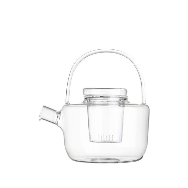 first thing you do in the morning - CB2 glass teapot