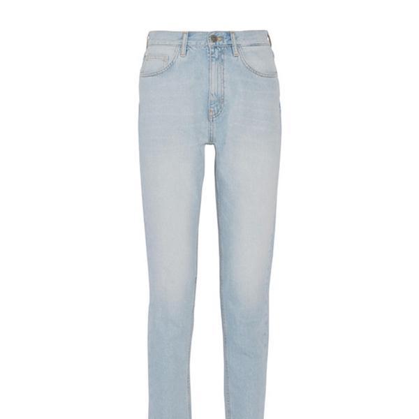 M.i.h Jeans Mimi Frayed High-Rise Slim-Leg Jeans