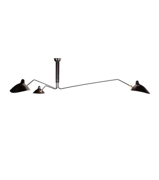Matt Baltt Replica Serge Mouille 3 Arm Ceiling Lamp