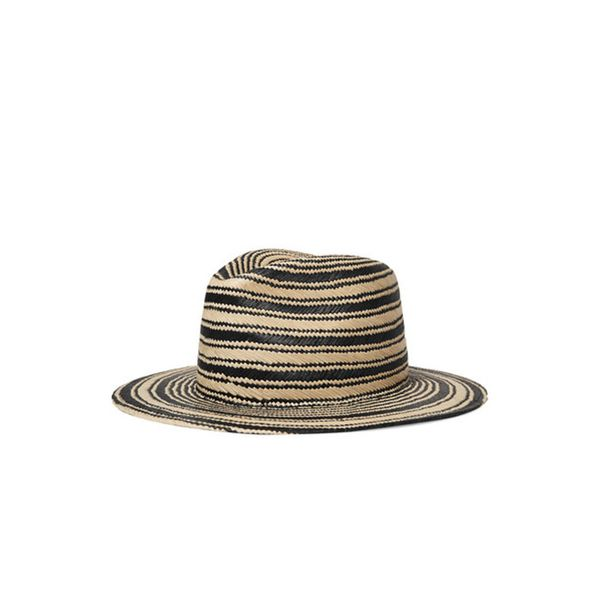Striped Straw Panama Hat