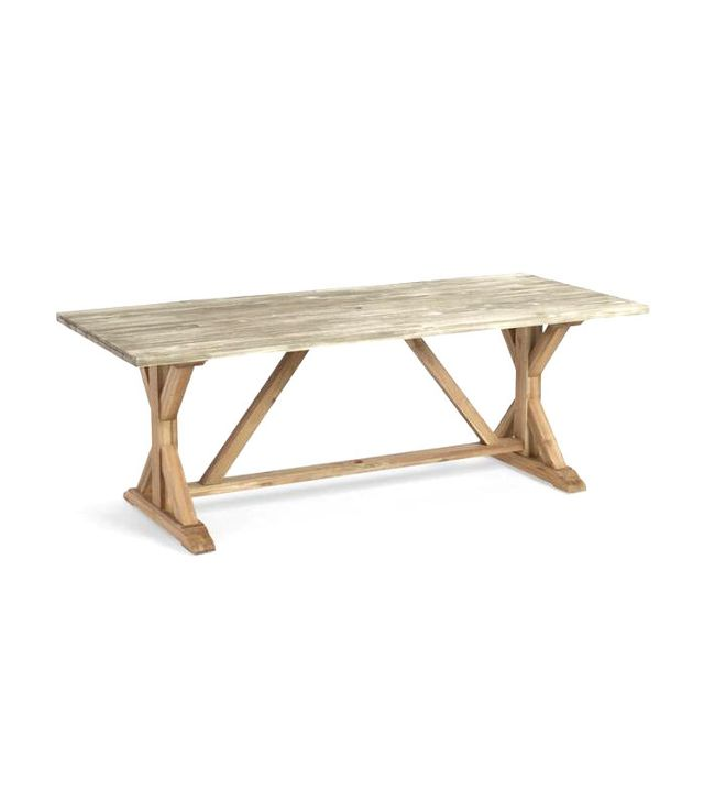 World Market Two Tone Wood San Remo Trestle Dining Table