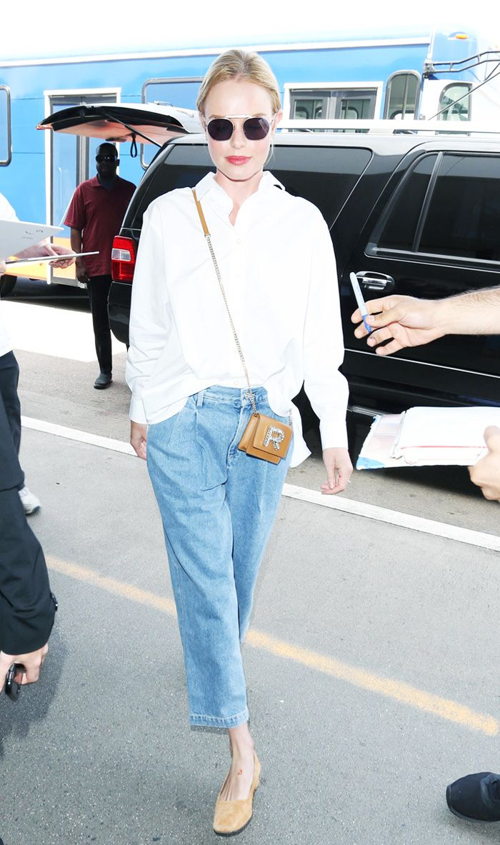 pics Kate Bosworth Just Wore the Best Airport Look Weve Seen in Some Time