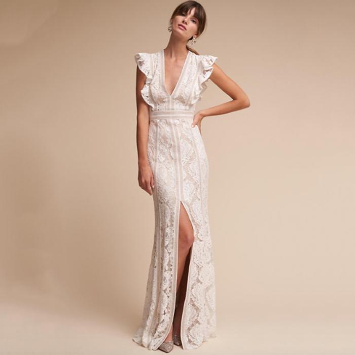 ba68a1fee99e The Best Boho Wedding Dresses for Bohemian Brides | Who What Wear UK