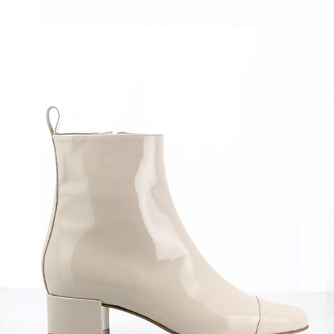 Estime Patent Leather Nude Boots