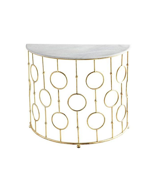 Cyan Design Perseus Marble Top and Brass Console Table