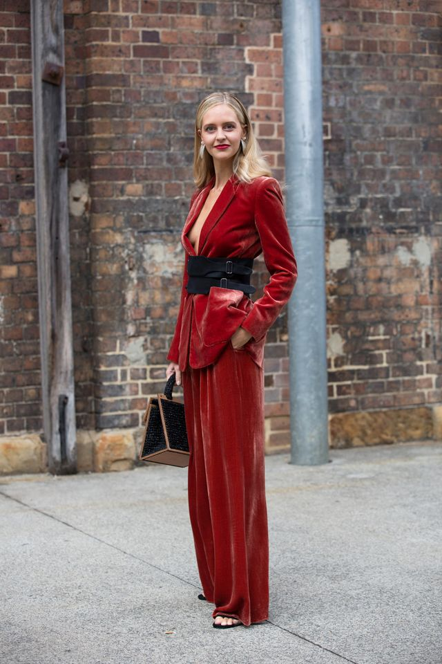 <p>There's nothing more empowering than putting on a suit that makes you feel like a confident woman. If you want to step out of the traditional black attire, mix it up with velvet fabric for an...