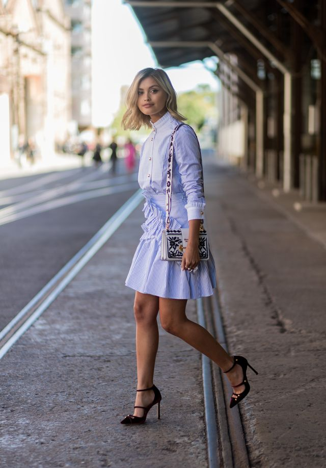 <p>Sarah Ellen's choice of accessories was the perfect mix of sophistication and edge. Her Fashion Week formula? A great handbag teamed with intricate pieces from <a...