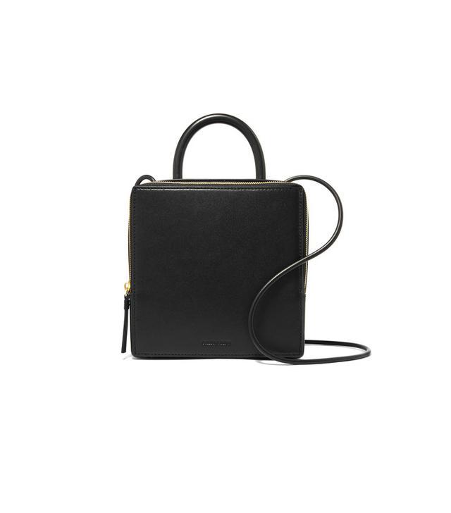 Building Block Box Leather Shoulder Bag