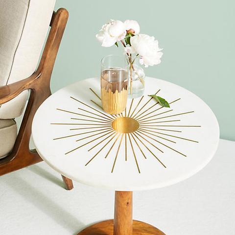 Brass Starburst Side Table