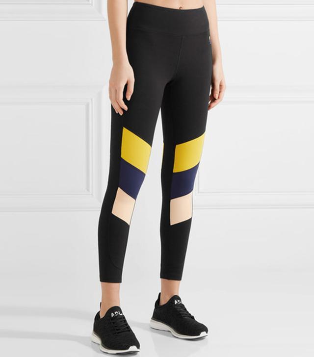 P.E Nation The Iron Tyson Color-block Stretch Leggings