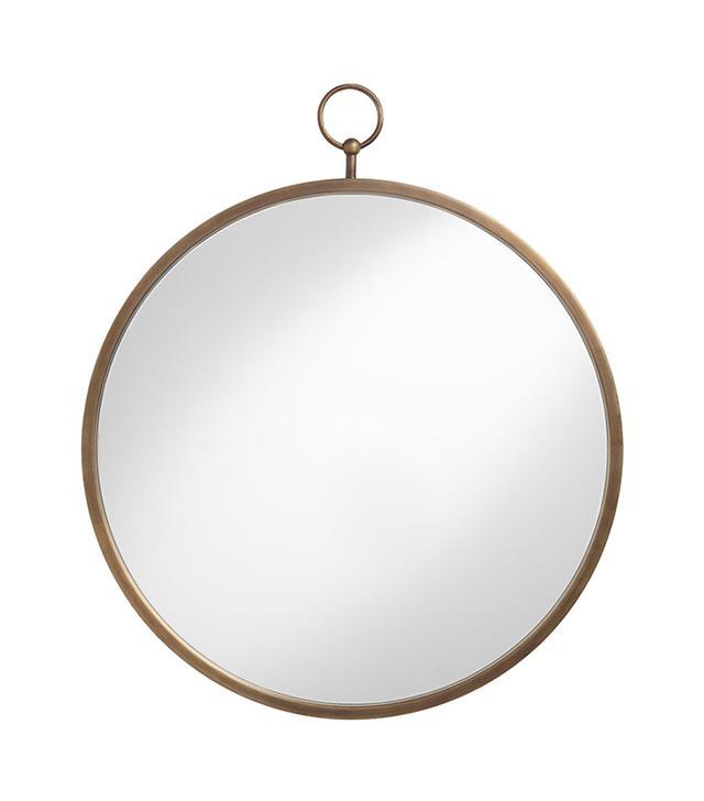 Cost Plus World Market Brass Metal Loop Mirror