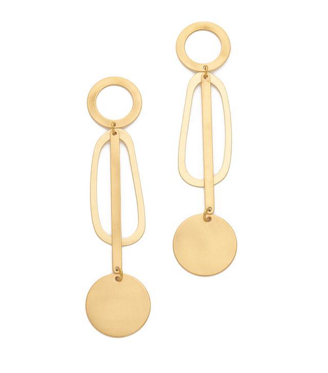 capsule wardrobe - Modern Weavings Pendulum Earrings