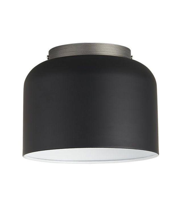 CB2 Bell Black Flush Mount Lamp