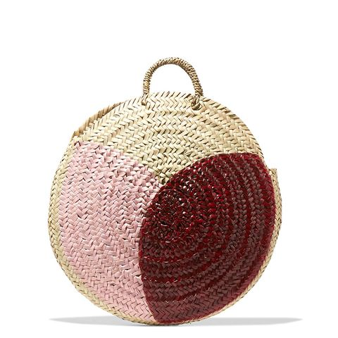 Dinard Painted Straw Tote