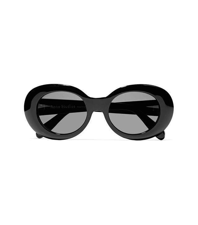 Acne Studios Mustang Oval-Frame Acetate Sunglasses