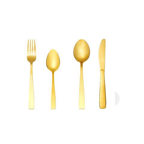 16-Piece Cutlery Set - Gold Look