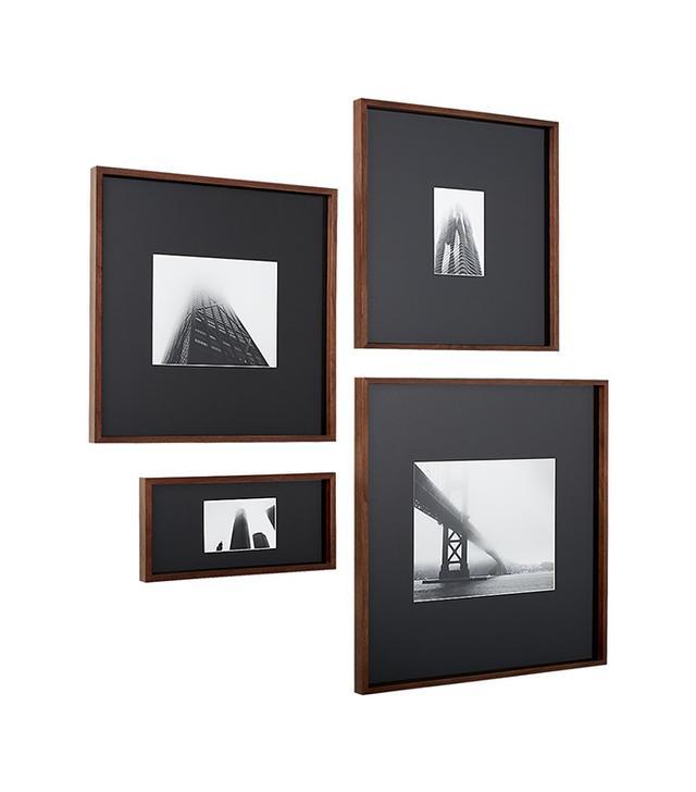 CB2 Walnut Frames With Black Mats