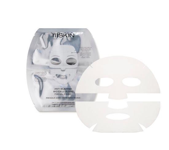 111 Skin Anti Blemish Bio Cellulose Facial Mask, 5 Pieces
