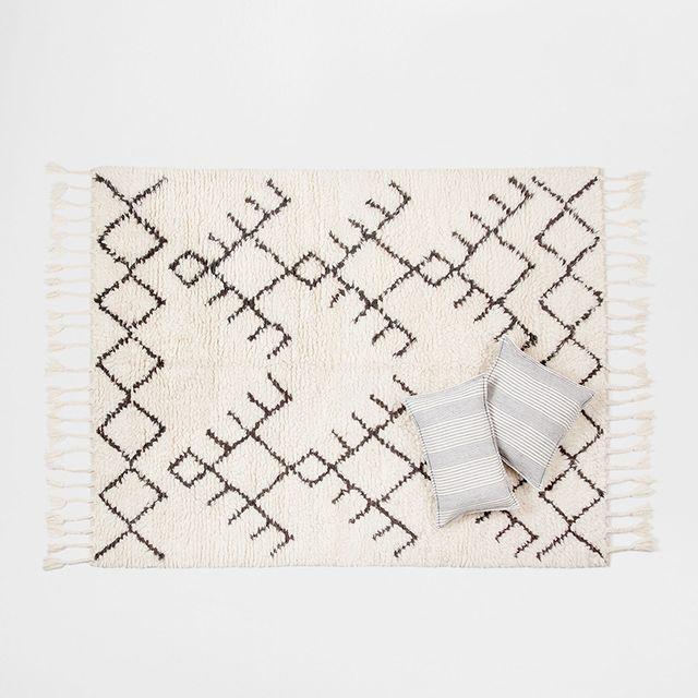 Zara Home Fringed Wool Rug