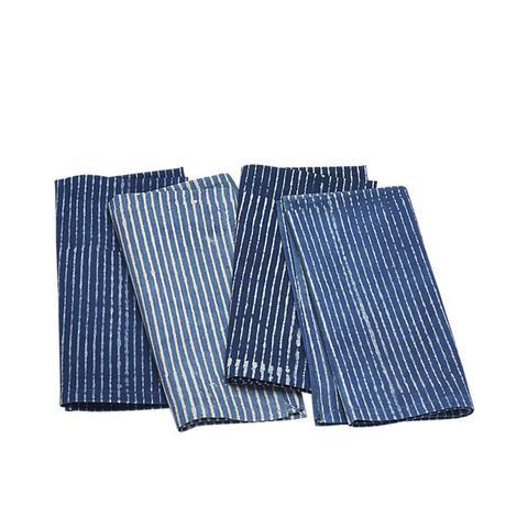 Indigo Stripe Napkins Set of 4